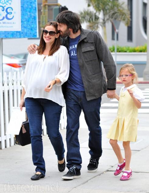 Jennifer Garner Ben Affleck and daughter Violet