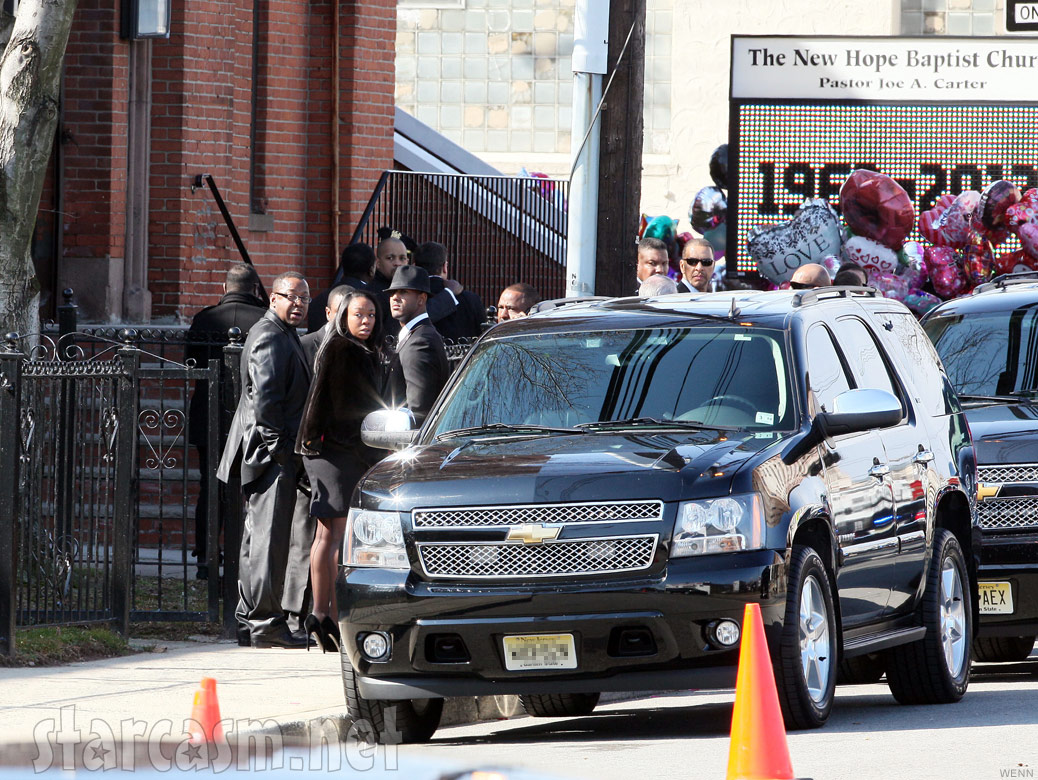 Bobby Brown leaves Whitney Houston funeral with daughter La Princia