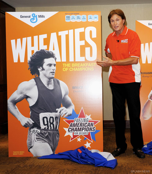Bruce Jenner retro Wheaties box unveiling