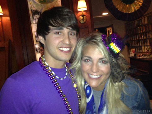 Jamie Lynn Spears with Dane McFarland from Caged