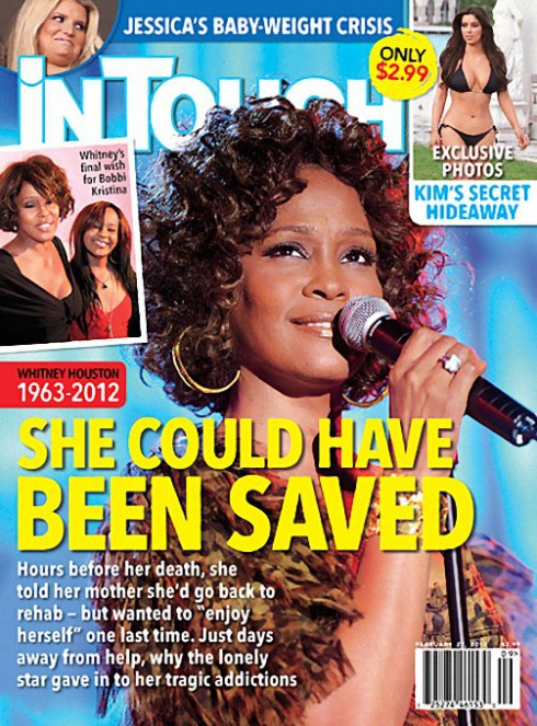 In Touch Whitney Houston cover February 27 2012