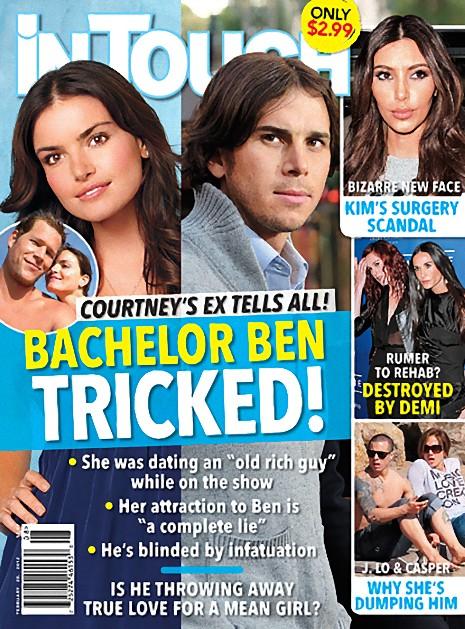 In Touch magazine cover February 20 2012 Ben Flajnik and Kim Kardashian