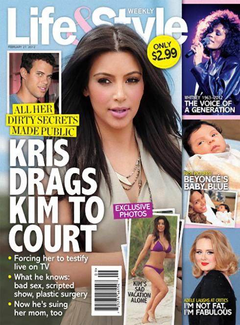 Life and Style Kim Kardashian magazine cover February 27 2012