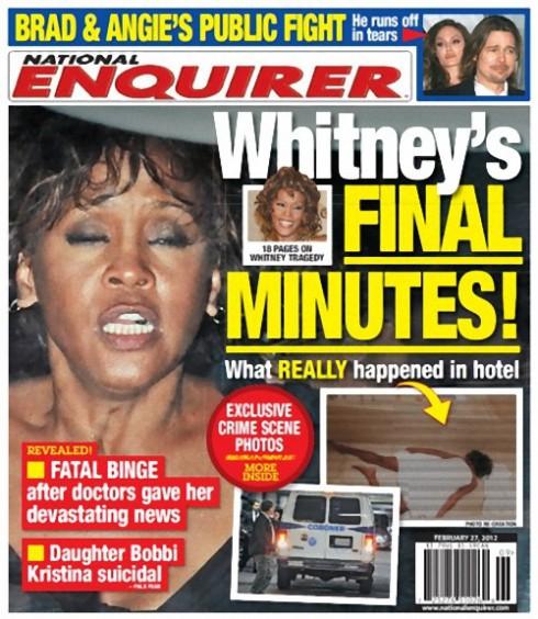 National Enquirer Whitney Houston cover February 27 2012