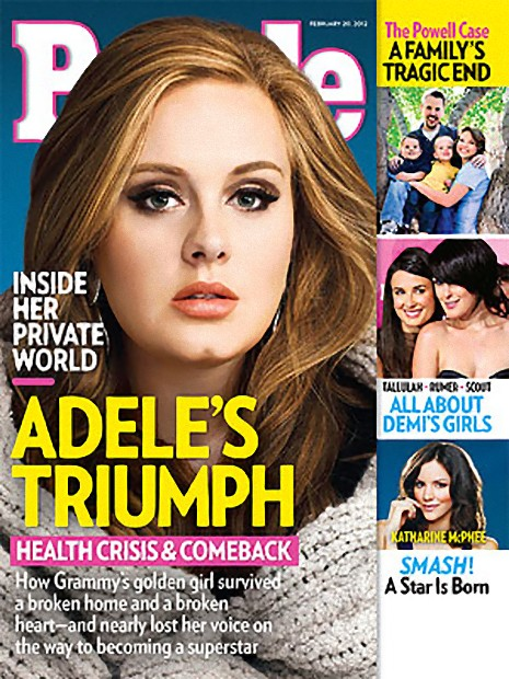 People cover February 20 2012 Adele's Triumph