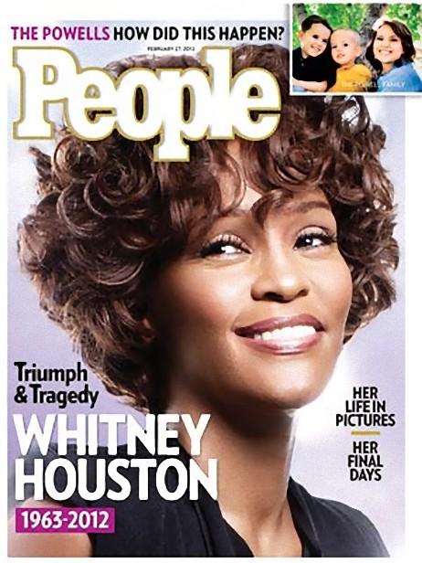 People magazine Whitney Houston tribute cover
