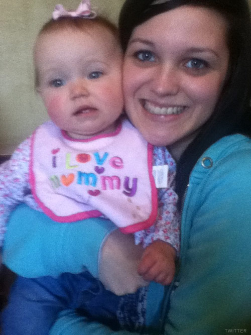 Sarah Roberts and daughter Tinleigh from 16 and Pregnant Season 4