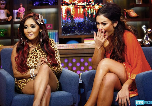 Snooki and JWoww on Watch What Happens Live