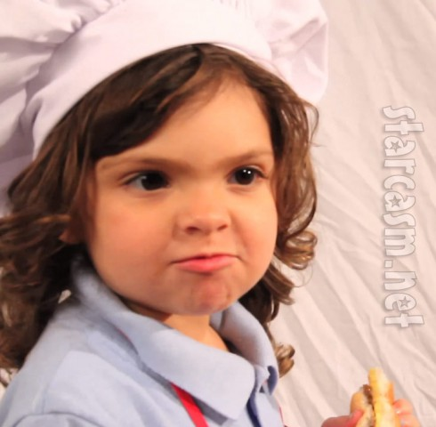 Sophia is super-cute as she appears in an ad for Mom and Me