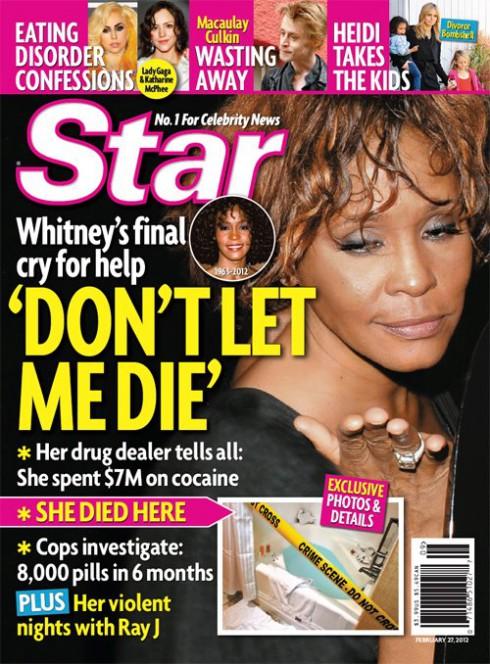 Star Magazine Whitney Houston cover February 2012