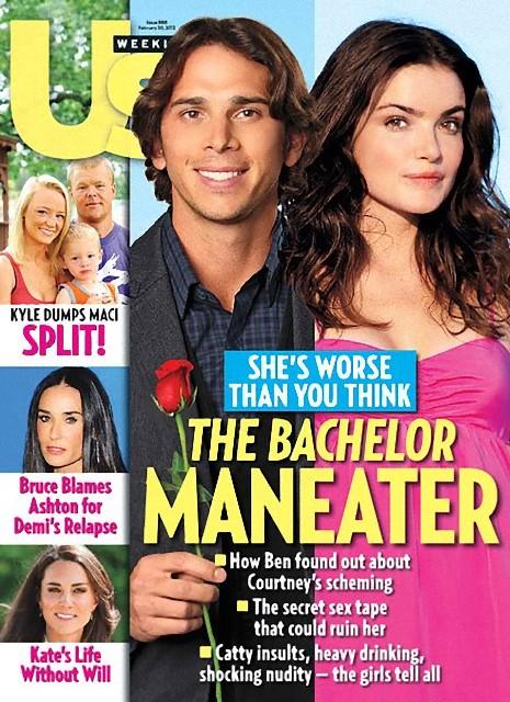 Us Weekly magazine cover February 20 2012 Ben Flajnik Courtney Robertson