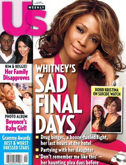 Us Weekly Whitney Houston cover February 27 2012