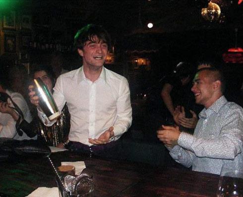 Daniel Radcliffe drunk on his 21st birthday