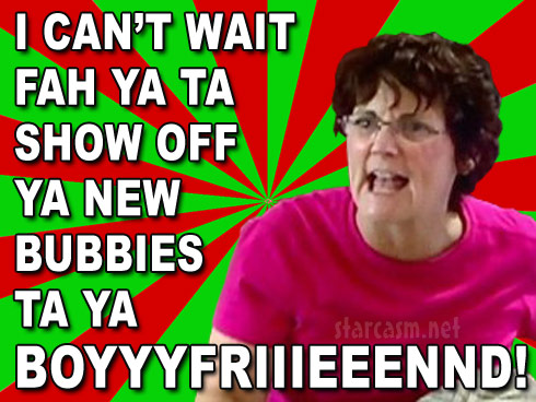 Jenelle Evans mom Barbara Evans boyfriend meme reaction to Jenelle's breast implants