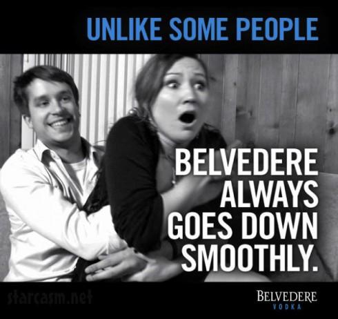 Belvedere Vodka rape ad Unlike some people, Belvedere always goes down smoothly