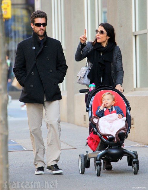 Bethenny Frankel husband Jason Hoppy and daughter Bryn Hoppy take a stroll in New York City