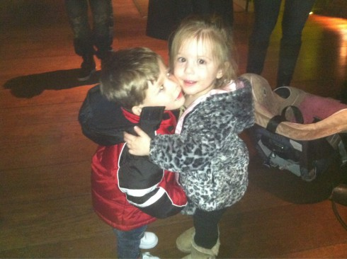 Jace and Aubree hugging