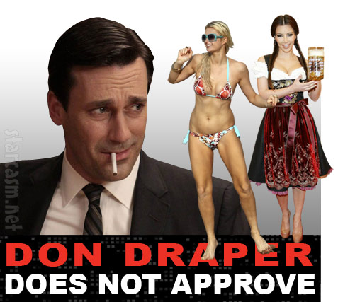Jon Hamm says Paris Hilton and Kim Kardasian are stupid and f***ing idiots
