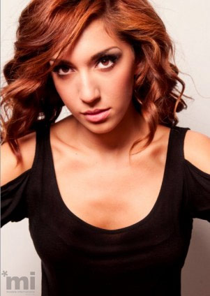 Farrah Abraham black top modeling photo