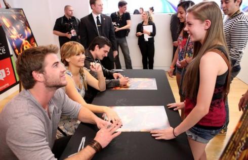 Liam Hemsworth Jennifer Lawrence Josh Hutcherson