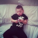 Teen Mom 2's Kailyn Lowry's son Isaac relaxing on the bed