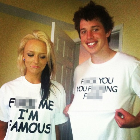Maci Bookout wears a F___ Me I'm Famous shirt on Spring Break in Daytona