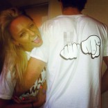 Maci Bookout wearing a F Me I'm Famous shirt in Daytona