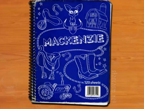 Mackenzie Douthit notebook from 16 and Pregnant Season 4