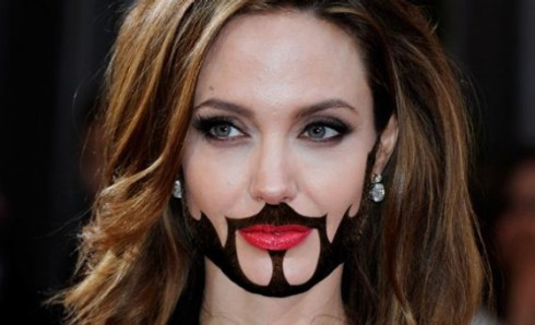 Seneca Angelina Jolie beard facial hair put a beard on it