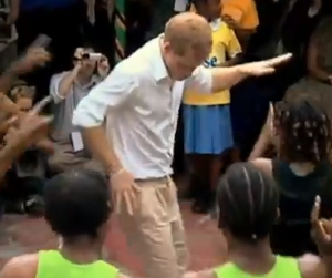 Prince Harry shaking his hips