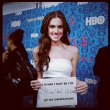 at the HBO Girls premiere in New York City April 4 2012