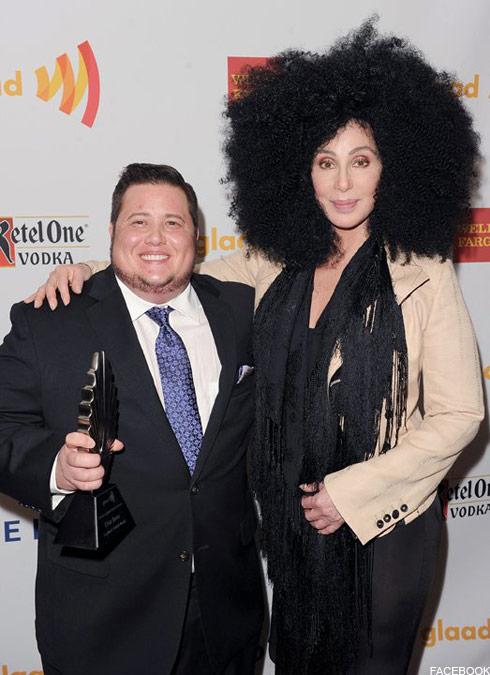 Chaz Bono and Cher at GLAAD Media Awards