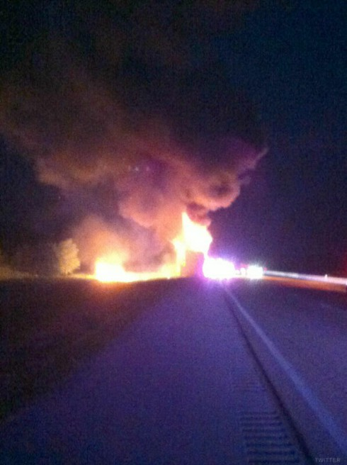 DJ Khaled tour bus explodes in Florida