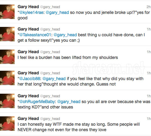 Gary Head tweets about breaking up with Teen Mom Jenelle Evans