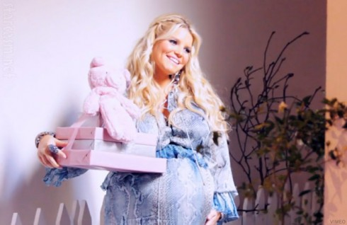Jessica Simpson at her baby shower