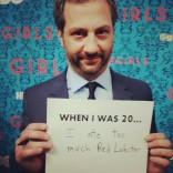 Judd Apatow at the HBO Girls premiere in New York City April 4 2012