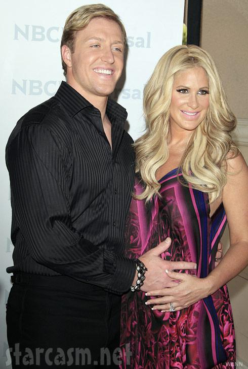 Kroy Biermann and pregnant Kim Zolciak at NBC Universal Summer Press Day