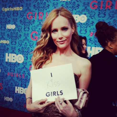 Leslie Mann at the HBO Girls premiere in New York City April 4 2012