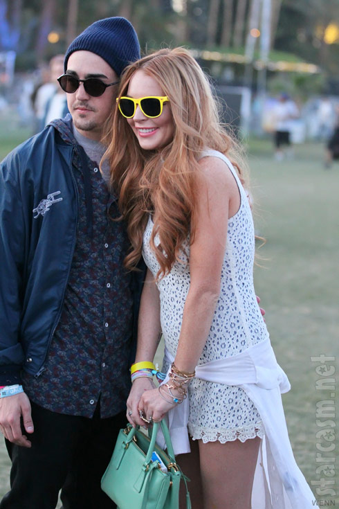 Lindsay Lohan and her rumored new boyfriend at Coachella 2012