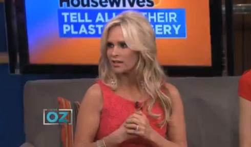 Tamra Barney reveals on the Dr. Oz show that she had cervical cancer