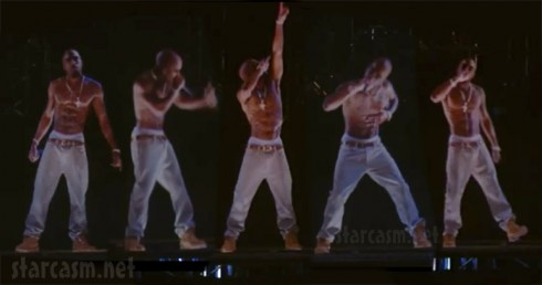 Tupac hologram at Coachella Music Festival