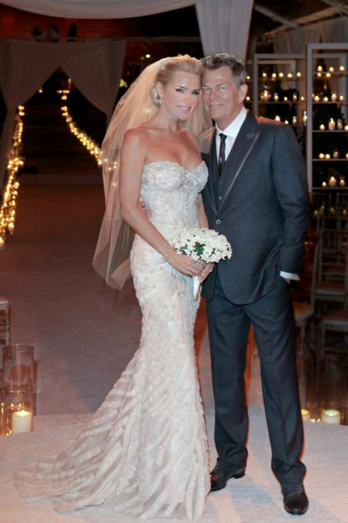 Real Housewives of Beverly Hills Yolanda Hadid wedding photo with David Foster