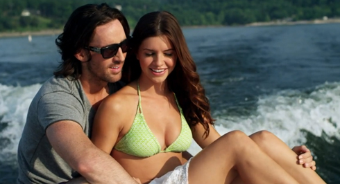 "Lacey Buchanan in swimsuit and Jake Owen in ""Barefoot Blue Jean Night"""