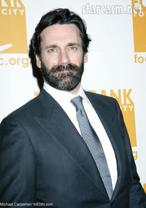 Jon Hamm's beard scruffy crazy eyes