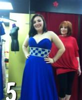 16 and Pregnant Season 4 Alex Sekella tries on a blue prom dress