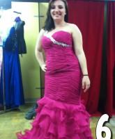 Teen Mom 3 Alex Sekella tries on a fuchsia prom dress