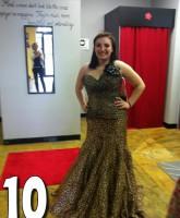 Teen Mom 3 Alex Sekella tries on a leopard print prom dress