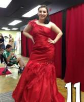 Teen Mom 3 Alex Sekella tries on a red prom dress