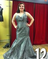 Teen Mom 3 Alex Sekella tries on a greenish blue prom dress