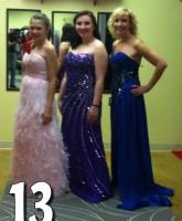 Teen Mom 3 Alex Sekella tries on a purple prom dress